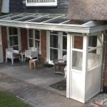 Houten veranda, klassieke houten veranda