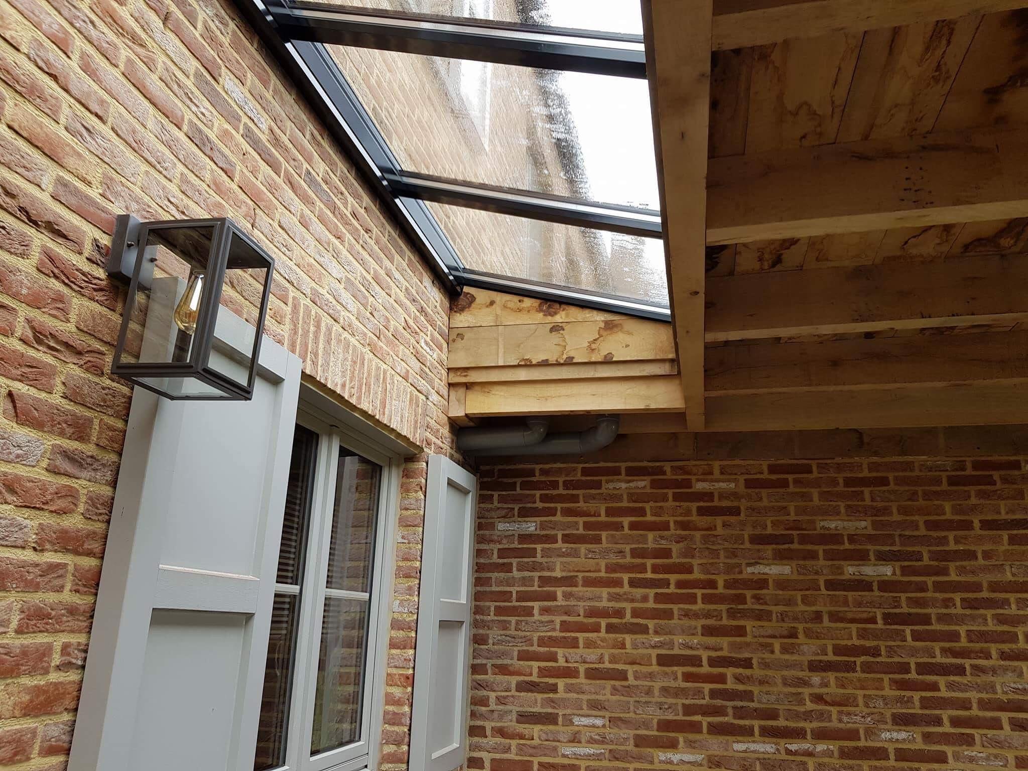 Leefruimte Lichtstraat veranda hout