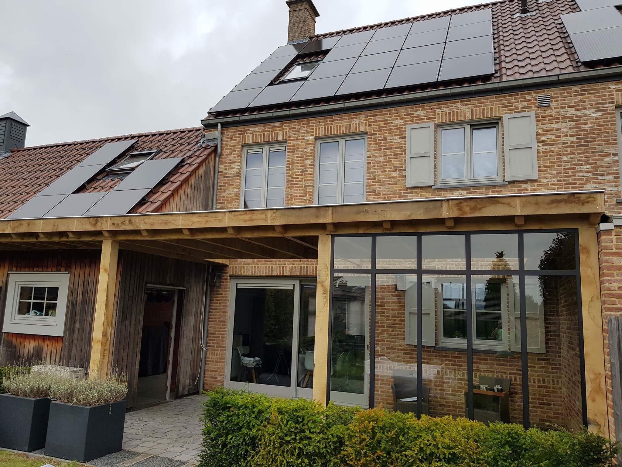 Leefruimte Design staal lichtstraat kozijn veranda hout eiken vakman