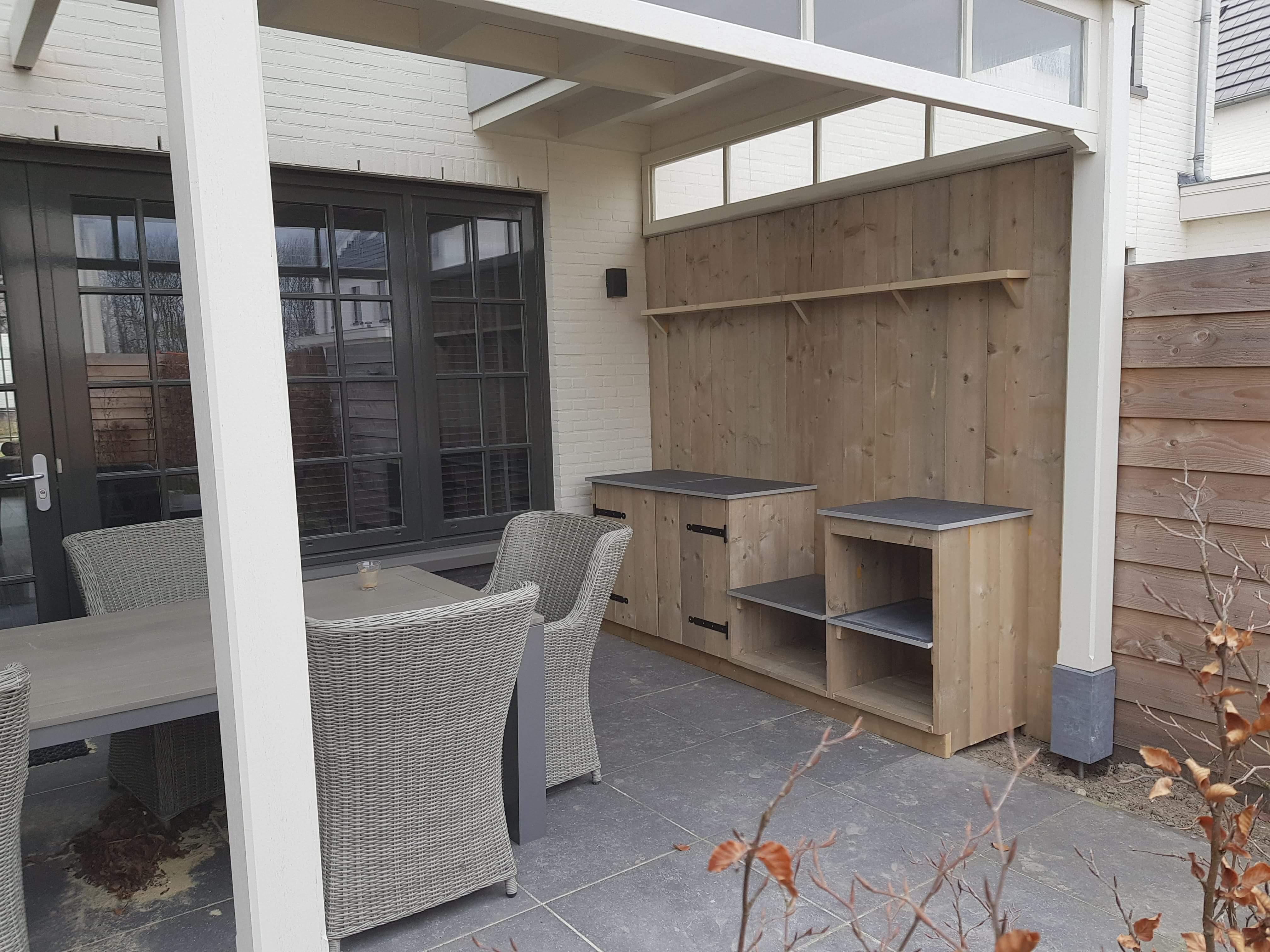 Houten Buiten Keuken : Massief houten buitenkeuken vasco buitenkeukens