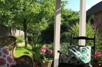 De inrichting van de veranda