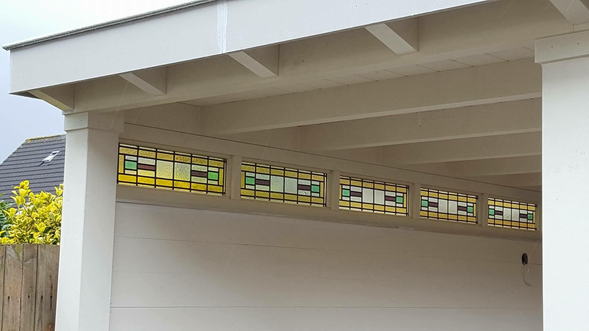 Bovenlicht met glas in lood