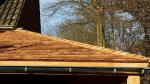 Ambachtelijke red ceder dakbedekking
