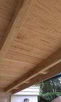Plafond eiken veranda