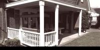 Klassieke veranda met balustrade
